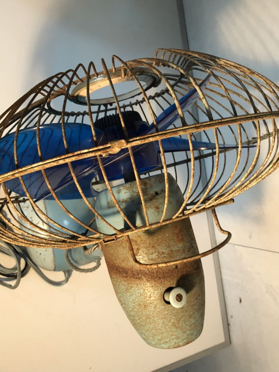 鉄製 昭和レトロ レトロ扇風機 当時物 貴重 アンティーク レア動作確認済み 現状販売(検)富士 ジャパン 日立 U-586_画像5