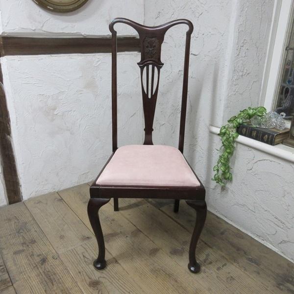 イギリス アンティーク 家具 クイーンアンチェア ダイニングチェア 猫脚 椅子 イス 木製 マホガニー 英国 QUEENANNCHAIR 4067d_画像2