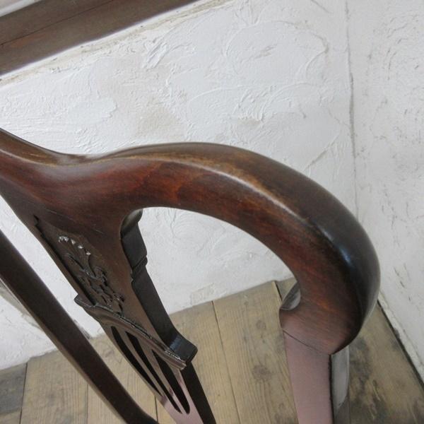 イギリス アンティーク 家具 クイーンアンチェア ダイニングチェア 猫脚 椅子 イス 木製 マホガニー 英国 QUEENANNCHAIR 4067d_画像10