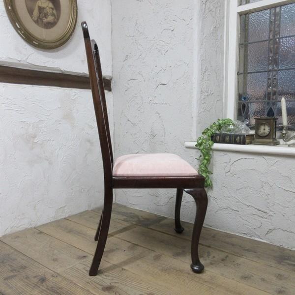 イギリス アンティーク 家具 クイーンアンチェア ダイニングチェア 猫脚 椅子 イス 木製 マホガニー 英国 QUEENANNCHAIR 4067d_画像6