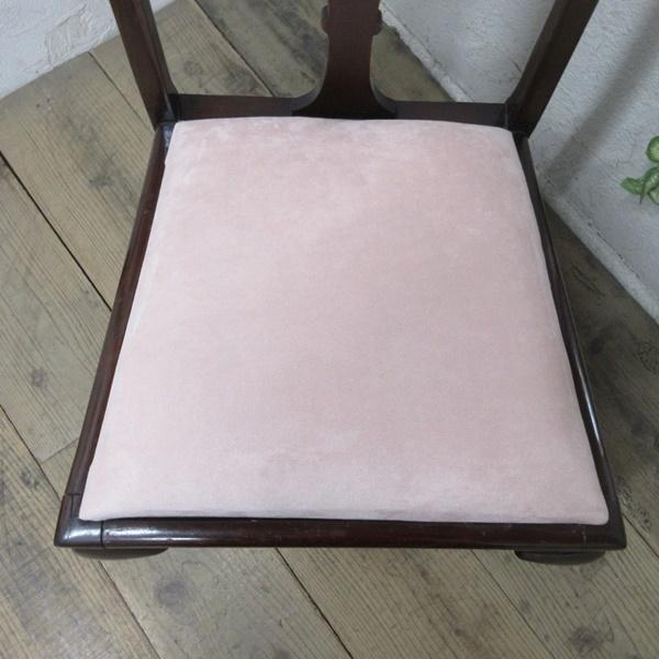 イギリス アンティーク 家具 クイーンアンチェア ダイニングチェア 猫脚 椅子 イス 木製 マホガニー 英国 QUEENANNCHAIR 4067d_画像4