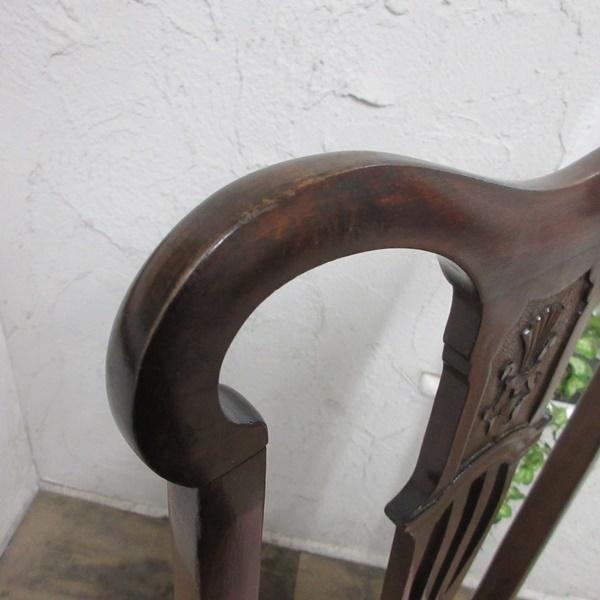 イギリス アンティーク 家具 クイーンアンチェア ダイニングチェア 猫脚 椅子 イス 木製 マホガニー 英国 QUEENANNCHAIR 4067d_画像9