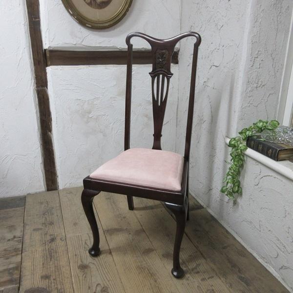 イギリス アンティーク 家具 クイーンアンチェア ダイニングチェア 猫脚 椅子 イス 木製 マホガニー 英国 QUEENANNCHAIR 4067d_画像1