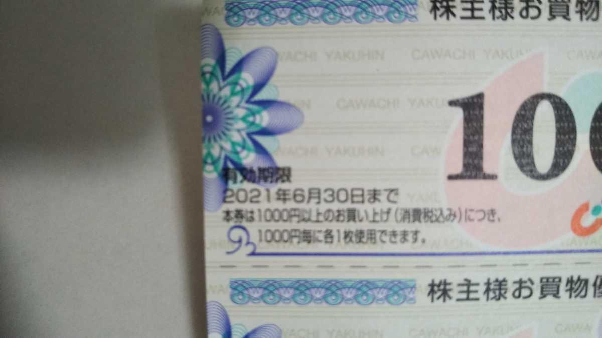 (普通郵便送料無料)カワチ薬品 株主優待券 100円×5枚_画像3