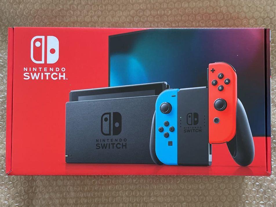 新品 未使用品 Nintendo Switch 本体 ニンテンドースイッチ Joy-Con (L) ネオンブルー (R) ネオンレッド 任天堂_画像1