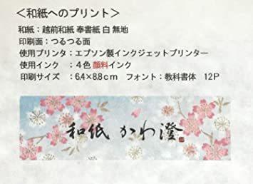白 A4判 50枚 【Amazon.co.jp 限定】和紙かわ澄 OA和紙 雲水 白 A4判 50枚_画像7