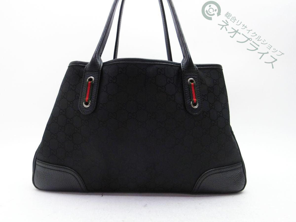◆Y3056 GUCCI グッチ GG シェリーライン キャンバス トート ショルダー バッグ