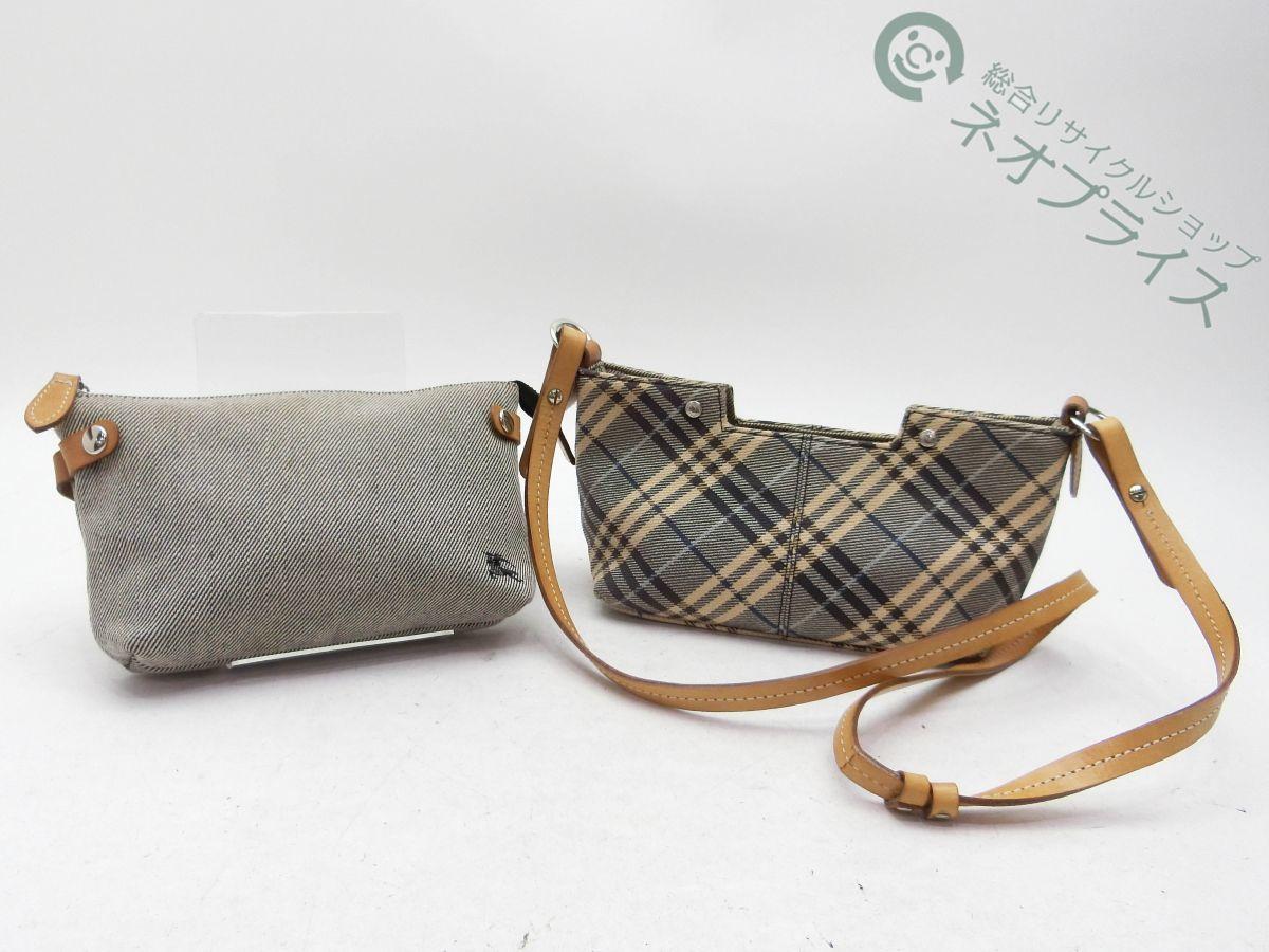 ◆S6454 BURBERRY バーバリー ブルーレーベル ノバチェック柄 ショルダー バッグ