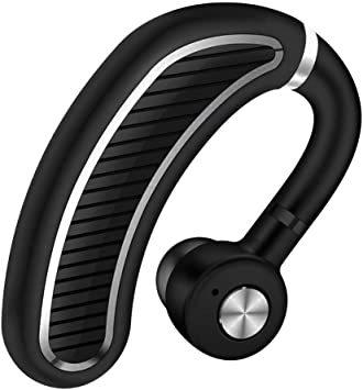 ☆限定1個!ブラックシルバー 【2020最新進化版】Bluetoothワイヤレス イヤホン 日本語音声ヘッドセットV4.1片耳 _画像1