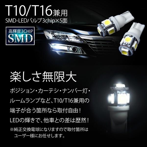 DA64W DA17W エブリイワゴン DA64V DA17V エブリイバン エブリィ極 LED 電球 バルブ T10 汎用 4個セット ホワイト ポジション ナンバー等_画像3