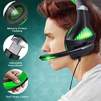 ★2時間限定 ★緑 BlueFire PS4 ヘッドセット ゲーミングヘッドセット ヘッドホン 騒音隔離伸縮可能マイク付 LED_画像8