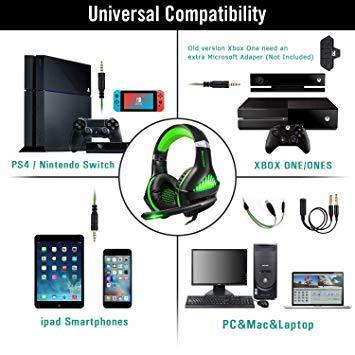 ★2時間限定 ★緑 BlueFire PS4 ヘッドセット ゲーミングヘッドセット ヘッドホン 騒音隔離伸縮可能マイク付 LED_画像7