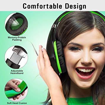 ★2時間限定 ★緑 BlueFire PS4 ヘッドセット ゲーミングヘッドセット ヘッドホン 騒音隔離伸縮可能マイク付 LED_画像5