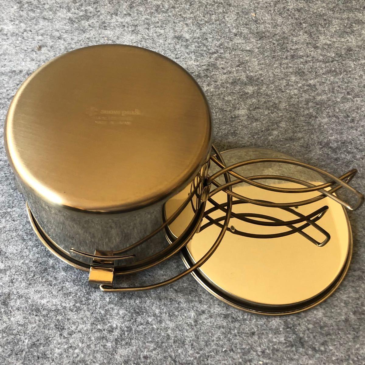 スノーピーク ケトル No.1 CS-068 0.9L GOLDEN BROWN