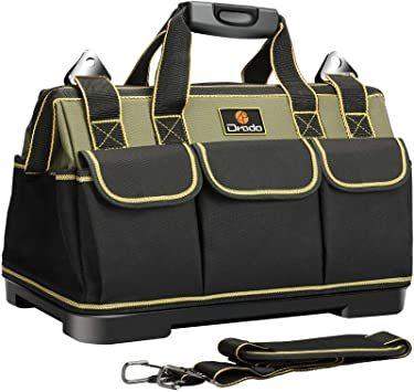 Drado ツールバッグ 工具バッグ 工具袋 道具袋 ベルト付 工具差し入れ 大口収納 1680Dオックスフォード 特化プラスチ_画像1