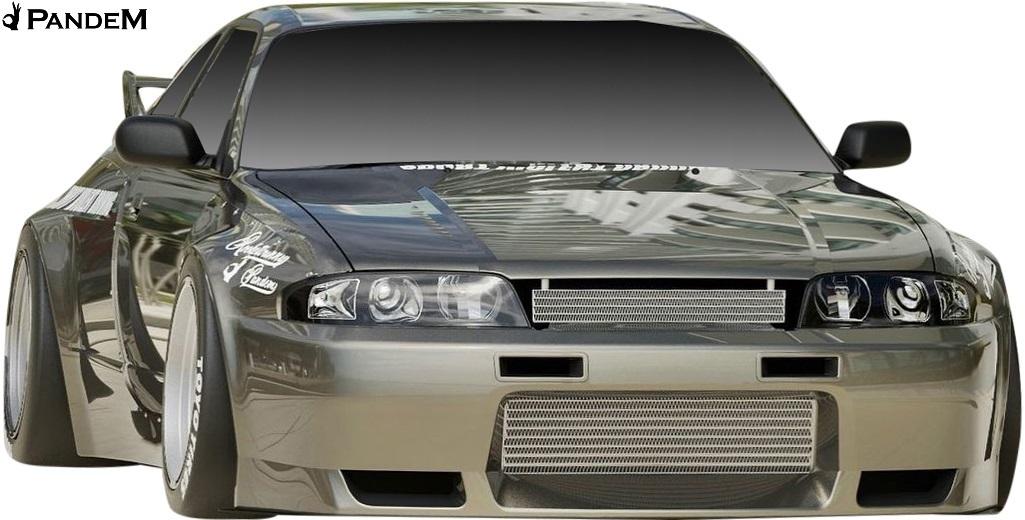 【M's】日産 R33 スカイライン GT-R (1995y-1998y) PANDEM サイドスカート LR / パンデム FRP 未塗装 エアロ パーツ GTR サイドステップ_画像5
