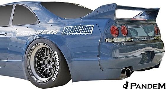 【M's】日産 R33 スカイライン GT-R (1995y-1998y) PANDEM リアフェンダー LR // パンデム FRP エアロ パーツ GTR 外装 リヤフェンダー_画像1