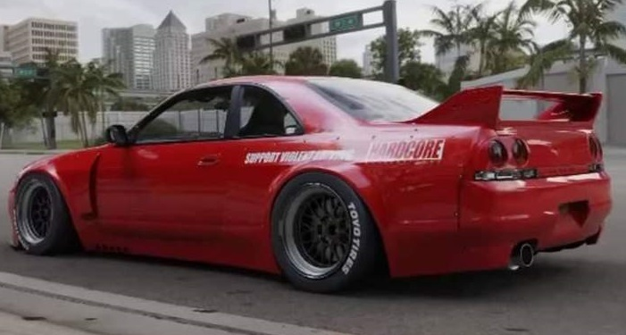 【M's】日産 R33 スカイライン GT-R (1995y-1998y) PANDEM サイドスカート LR / パンデム FRP 未塗装 エアロ パーツ GTR サイドステップ_画像8