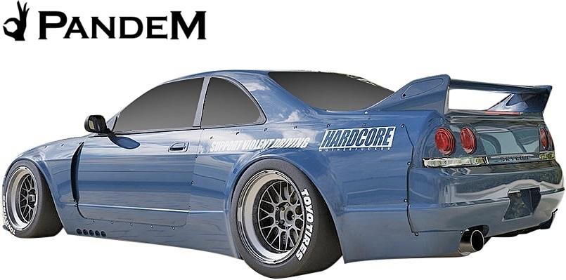 【M's】日産 R33 スカイライン GT-R (1995y-1998y) PANDEM リアフェンダー LR // パンデム FRP エアロ パーツ GTR 外装 リヤフェンダー_画像3