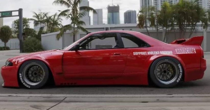【M's】日産 R33 スカイライン GT-R (1995y-1998y) PANDEM リアフェンダー LR // パンデム FRP エアロ パーツ GTR 外装 リヤフェンダー_画像8