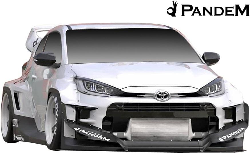 【M's】 トヨタ GR ヤリス (2020y-) PANDEM リアウイング (補助ロッド付) // FRP 未塗装 パンデム エアロ パーツ リヤウイング カスタム_画像6