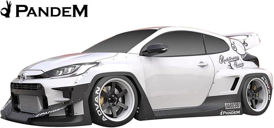 【M's】 トヨタ GR ヤリス (2020y-) PANDEM リアウイング (補助ロッド付) // FRP 未塗装 パンデム エアロ パーツ リヤウイング カスタム_画像8