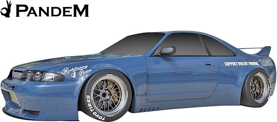 【M's】NISSAN R33 スカイライン GT-R (1995y-1998y) PANDEM サイドスカート 左右 // パンデム FRP 未塗装 エアロ パーツ GTR カスタム_画像2