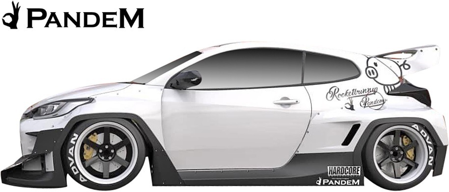 【M's】 トヨタ GR ヤリス (2020y-) PANDEM リアウイング (補助ロッド付) // FRP 未塗装 パンデム エアロ パーツ リヤウイング カスタム_画像3