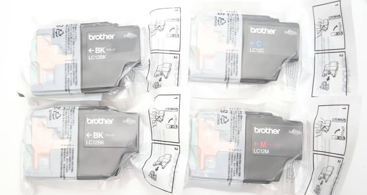 ★brother純正  LC12M LC12C LC12BK x2個  合計4個 新品未使用品★_画像1
