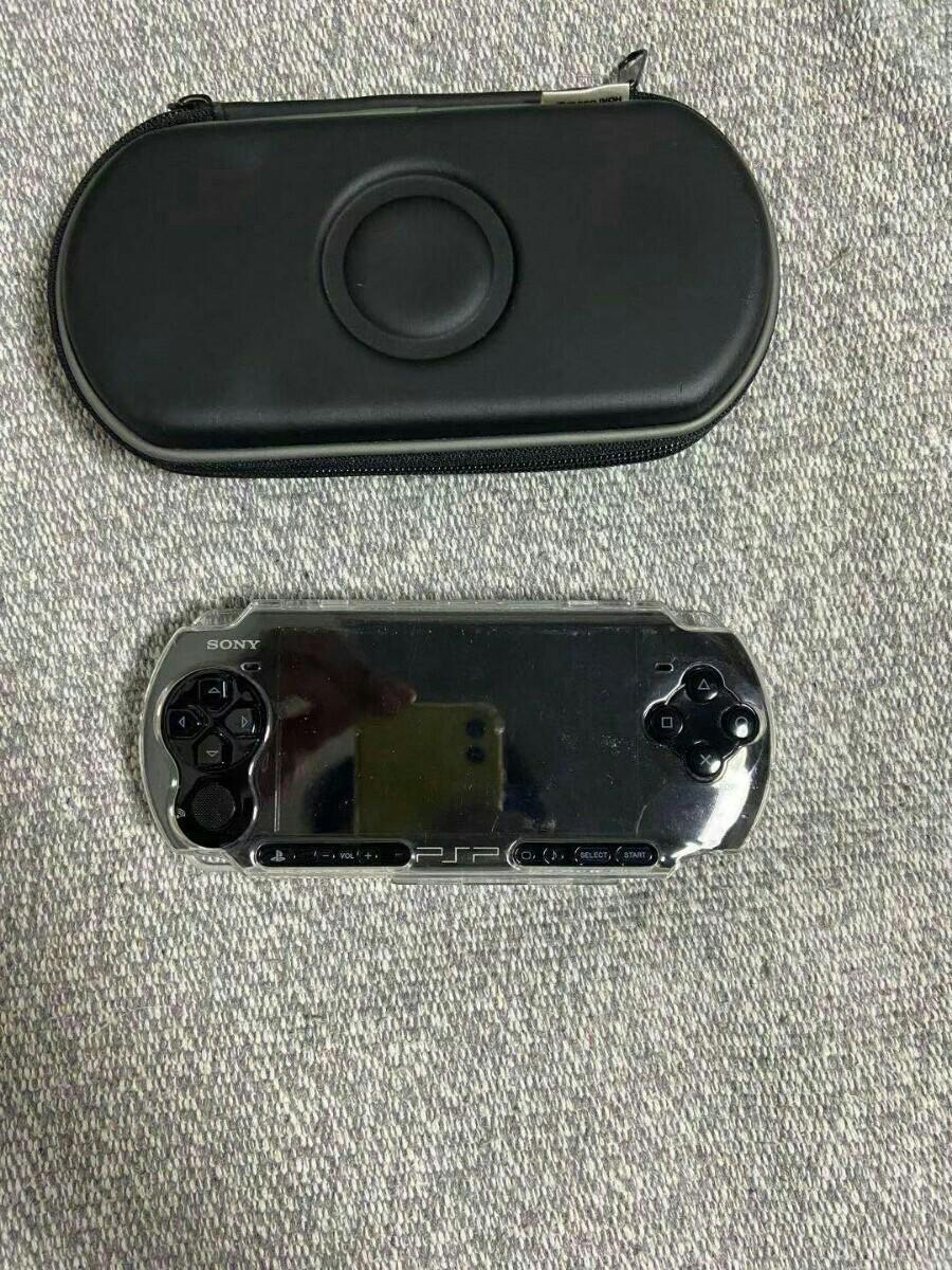 PSP「プレイステーション・ポータブル」 ピアノ・ブラック(PSP-3000PB) ゲーム機本体 初期化動作確認済み 充電器付き