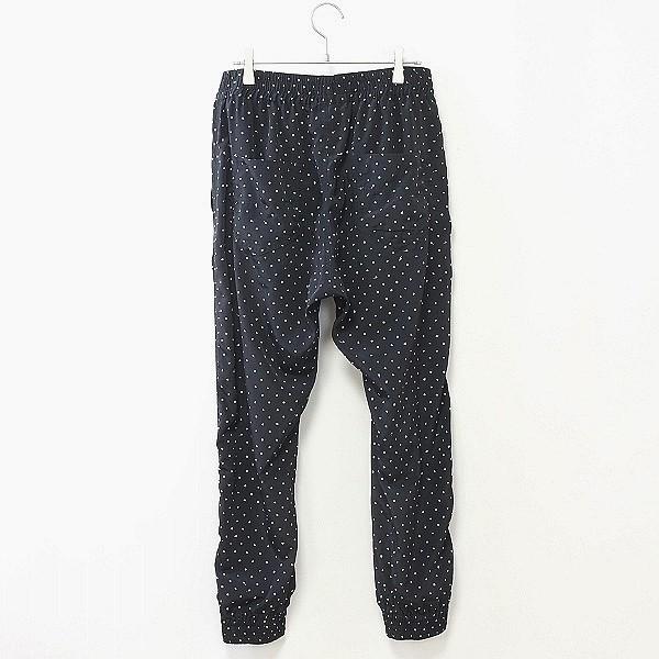 ◆DIESEL/ディーゼル 裾ジップ 総柄 ポリエステル ジョガー イージー パンツ ブラック×ホワイト M_画像2