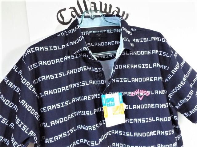 ☆新品☆Callaway キャロウェイ / サイズ3L / ISLAND DREAMS 文字ボーダー プルオーバーシャツ DRY・UV _画像1