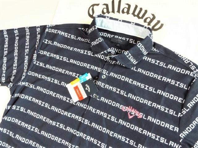 ☆新品☆Callaway キャロウェイ / サイズ3L / ISLAND DREAMS 文字ボーダー プルオーバーシャツ DRY・UV _画像8