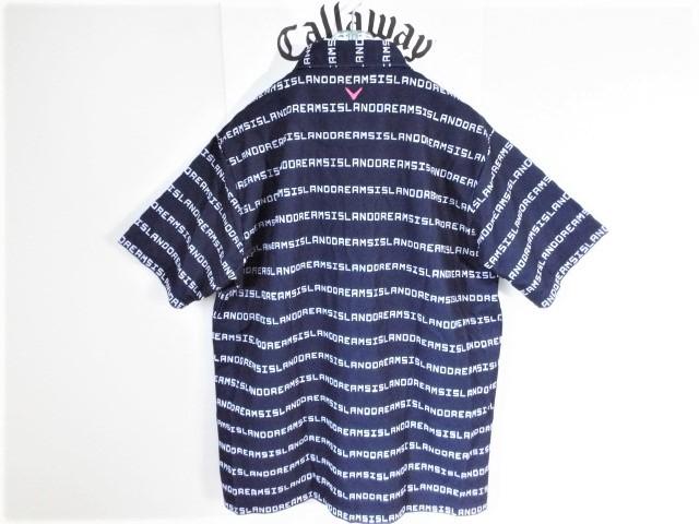 ☆新品☆Callaway キャロウェイ / サイズ3L / ISLAND DREAMS 文字ボーダー プルオーバーシャツ DRY・UV _画像7