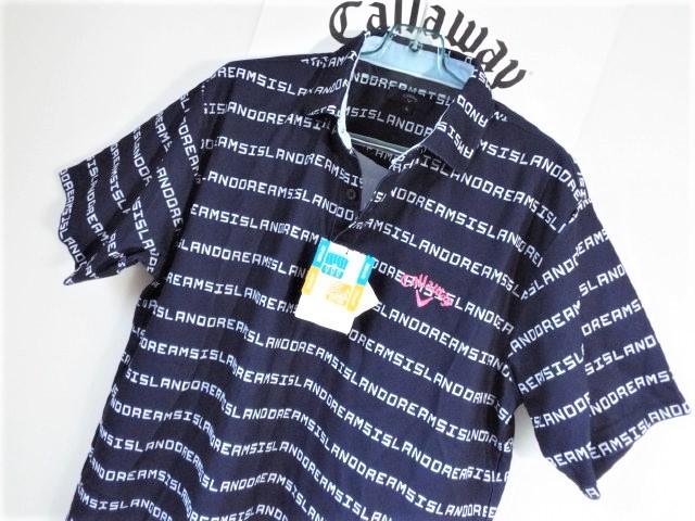 ☆新品☆Callaway キャロウェイ / サイズ3L / ISLAND DREAMS 文字ボーダー プルオーバーシャツ DRY・UV _画像6