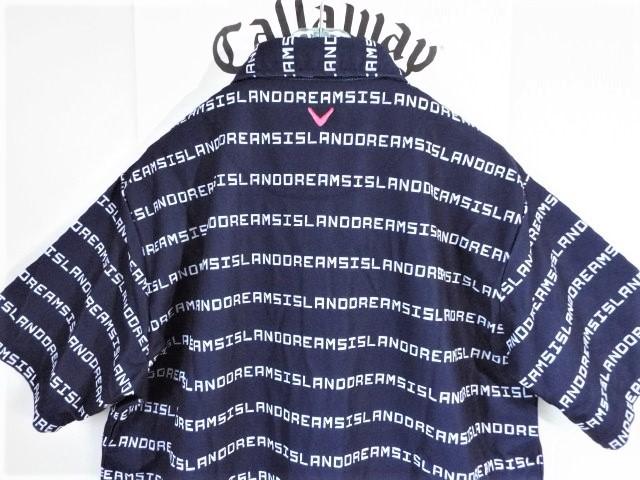 ☆新品☆Callaway キャロウェイ / サイズ3L / ISLAND DREAMS 文字ボーダー プルオーバーシャツ DRY・UV _画像5
