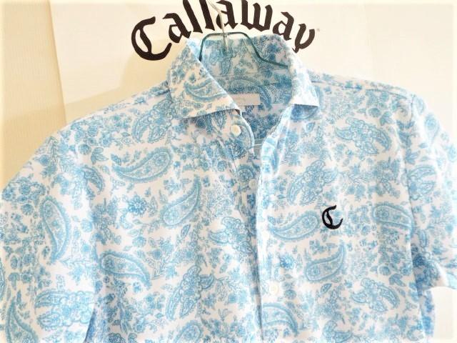 ★超美品★Callaway キャロウェイ / ペーズリー総柄 プルオーバーシャツ DRY / サイズM _画像6