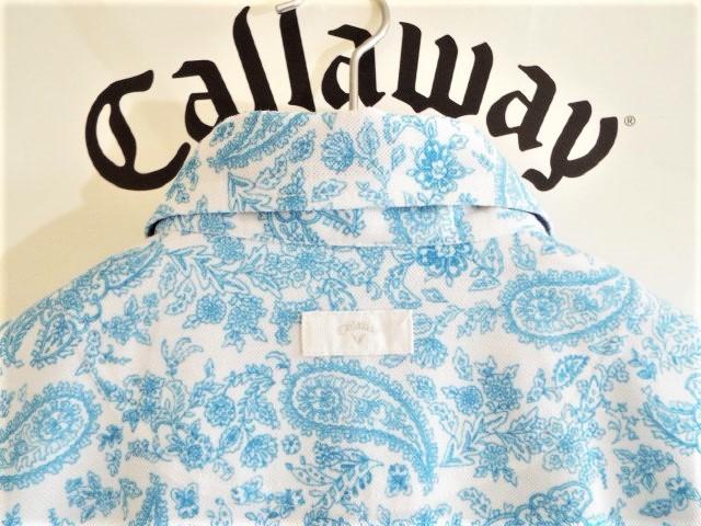 ★超美品★Callaway キャロウェイ / ペーズリー総柄 プルオーバーシャツ DRY / サイズM _画像5