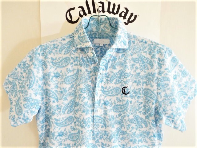 ★超美品★Callaway キャロウェイ / ペーズリー総柄 プルオーバーシャツ DRY / サイズM _画像3