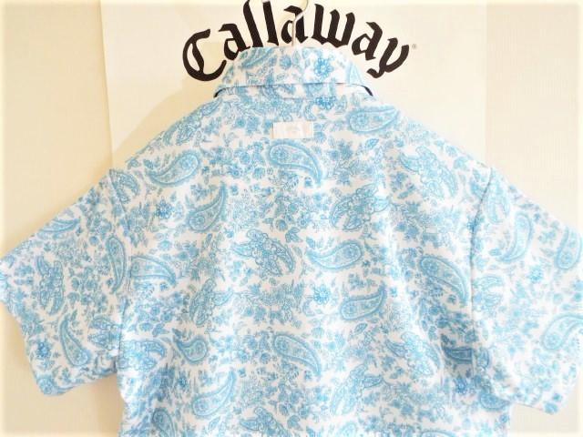 ★超美品★Callaway キャロウェイ / ペーズリー総柄 プルオーバーシャツ DRY / サイズM _画像2