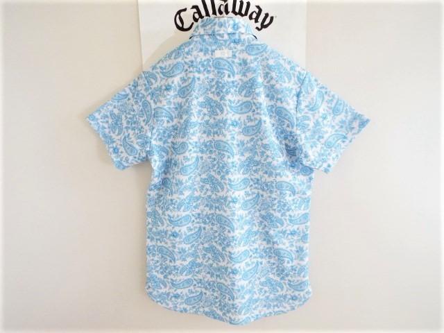 ★超美品★Callaway キャロウェイ / ペーズリー総柄 プルオーバーシャツ DRY / サイズM _画像8