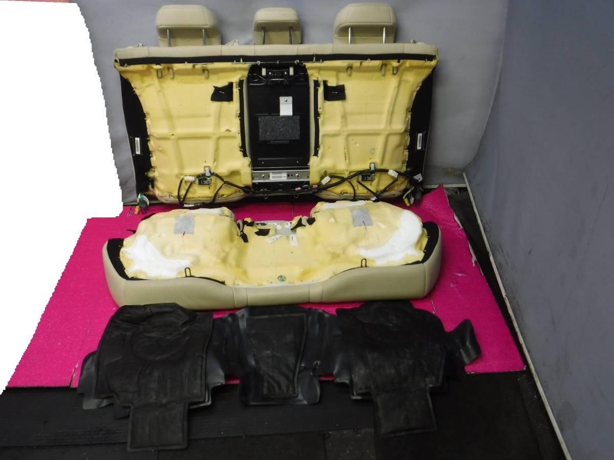 レクサス GS GWL10 レザー シート 1台分 インフレーター欠品 運転席 助手席 後部座席 ドライバーズ アシスタント リア _リアシート、後側画像です。
