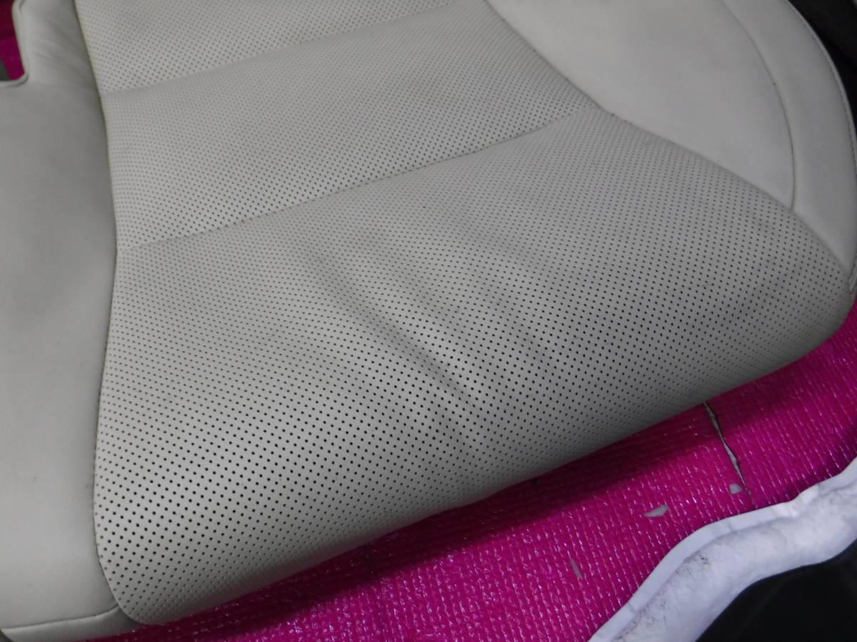 レクサス GS GWL10 レザー シート 1台分 インフレーター欠品 運転席 助手席 後部座席 ドライバーズ アシスタント リア _リアシートの状態です。