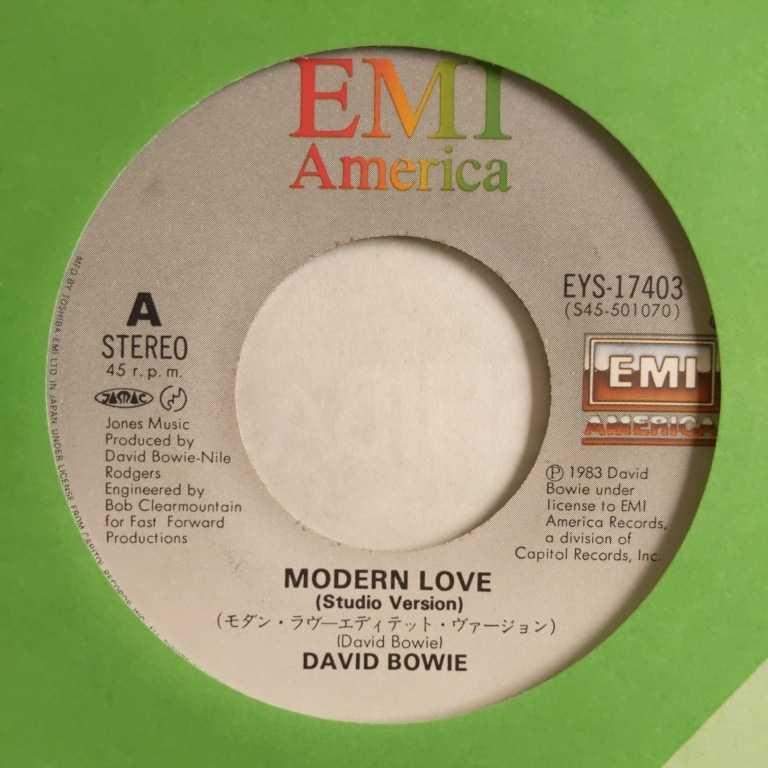 【試聴済EP】デビッド・ボウイ『モダン・ラヴ』_画像3