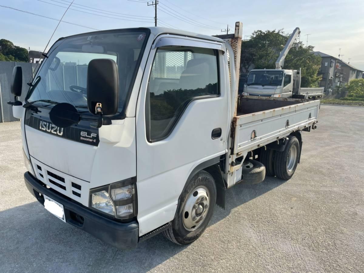 「売り切り!!いすゞ エルフ 平ボディ H17年 トラック ELF ディーゼル 機関良好 最落なし 売切」の画像1