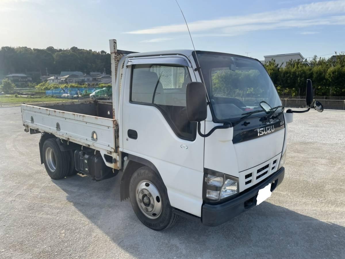 「売り切り!!いすゞ エルフ 平ボディ H17年 トラック ELF ディーゼル 機関良好 最落なし 売切」の画像2