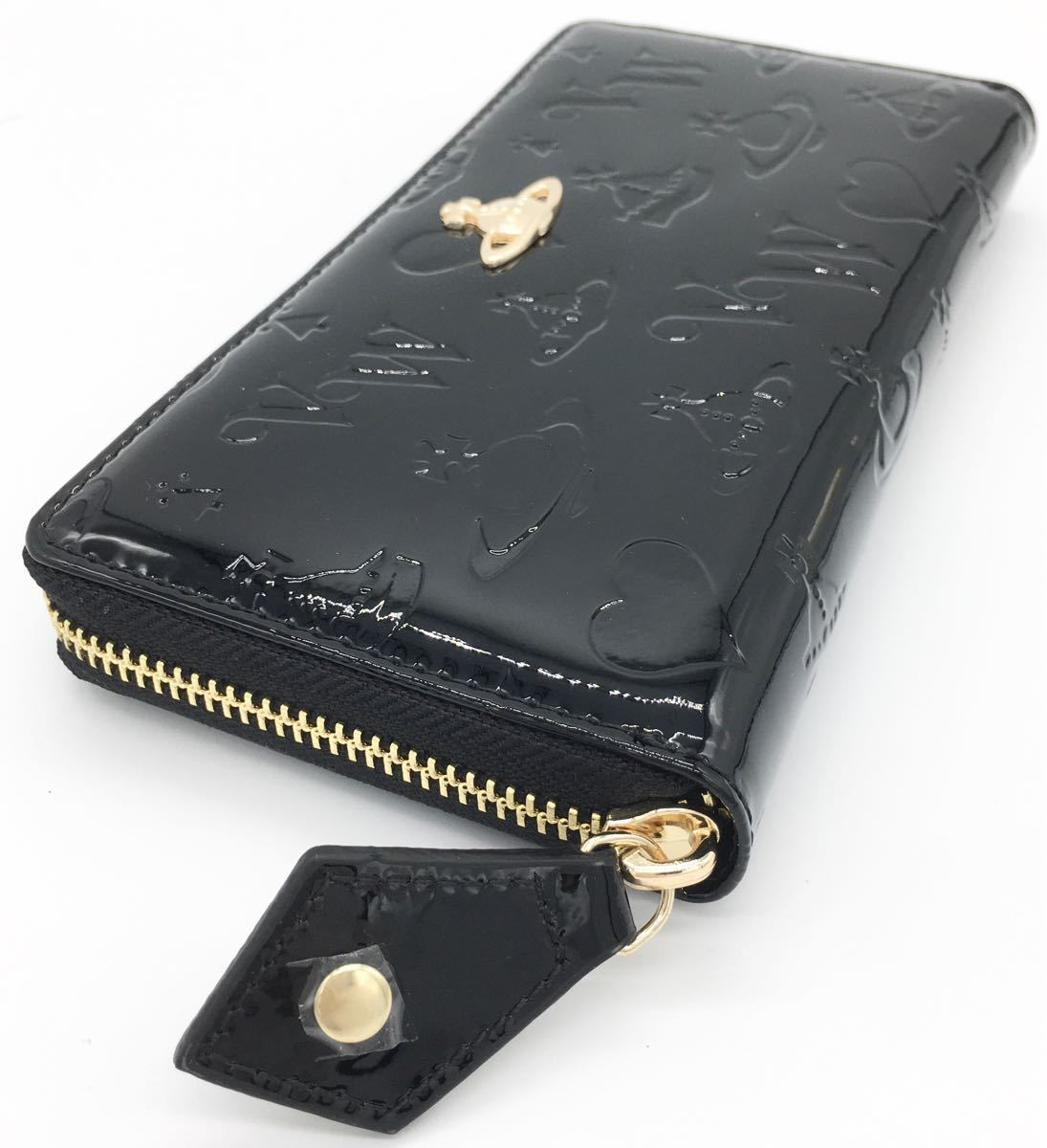Vivienne Westwood  ヴィヴィアンウエストウッド  長財布  エナメル ブラック レディース メンズ