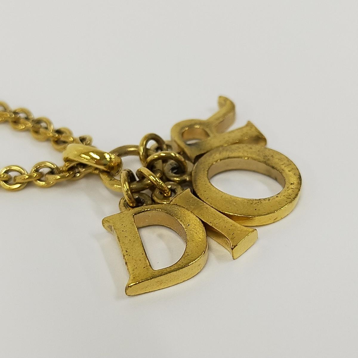 ●クリスチャン・ディオール Christian Dior ネックレス チェーンネックレス 【Jコレ】671[ne]4_画像6