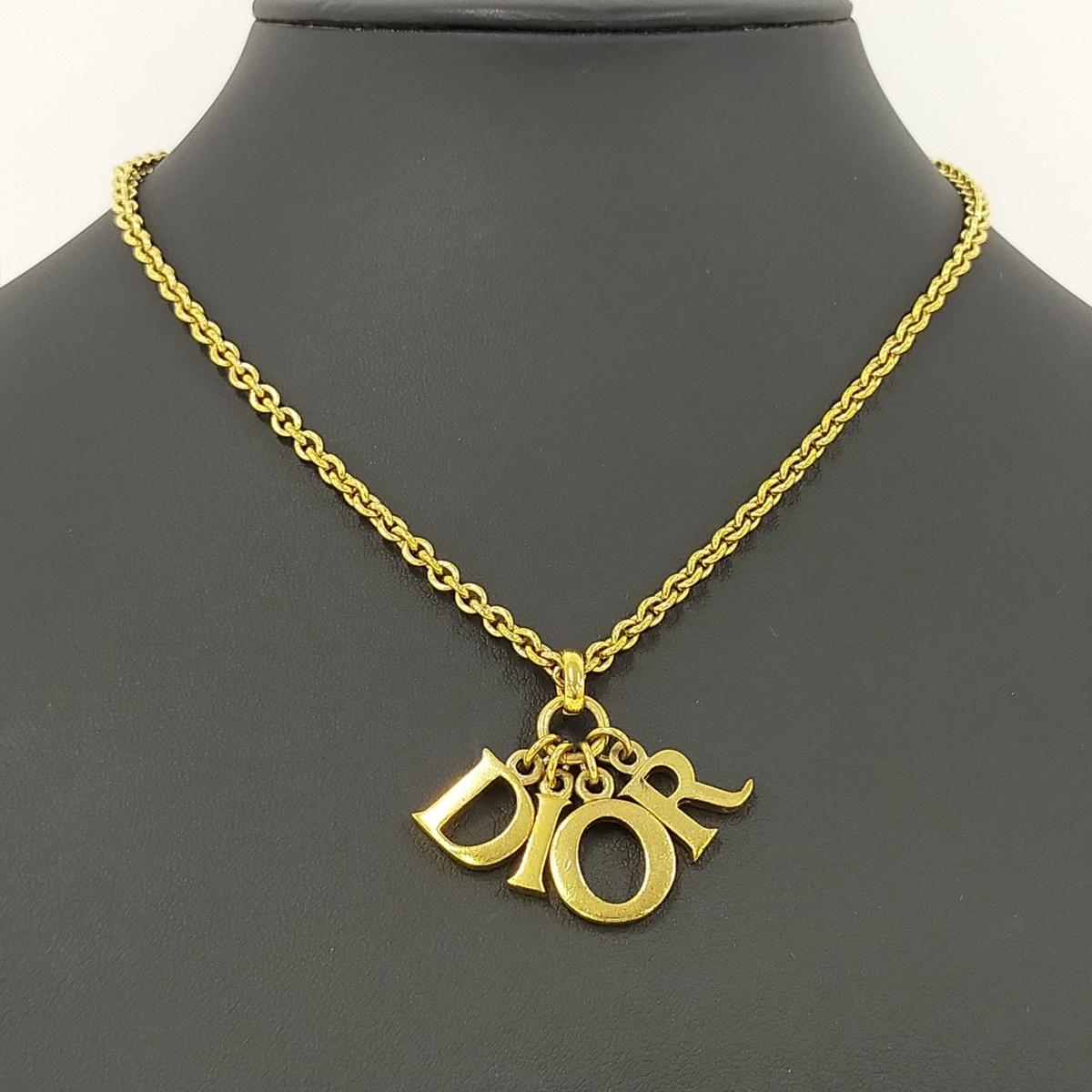 ●クリスチャン・ディオール Christian Dior ネックレス チェーンネックレス 【Jコレ】671[ne]4_画像8
