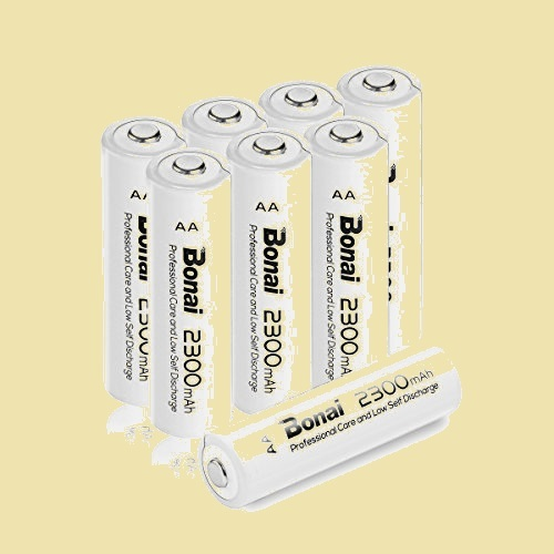 大人気 新品 未使用 単3形 BONAI C-WX 環境友好タイプ(高容量2300mAh 約1200回使用可能) 充電式電池 ニッケル水素電池 8個パック_画像1